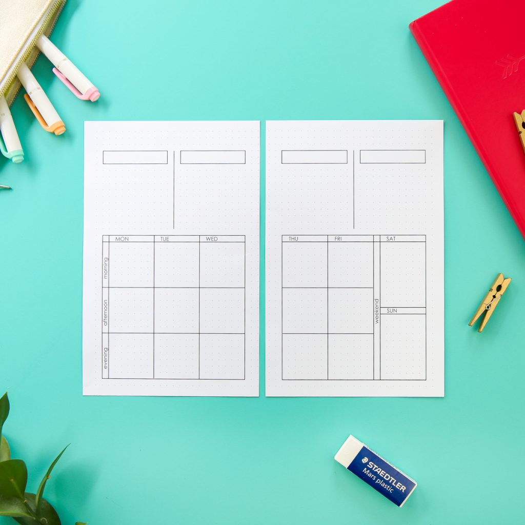 blank bullet journal printable