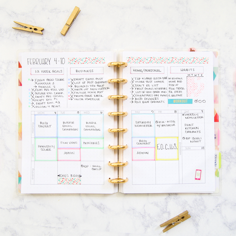 bullet journal printables in action