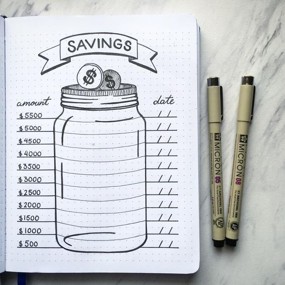 savings jar sketch