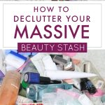 It finally had to end. I admitted I had a beauty product hoarding problem but then felt paralyzed about what to do about it. I'm SO glad I found this easy-to-follow, guilt-free process for how to declutter makeup and the rest of my beauty stash. I'm finally able to open my bathroom cabinets again without worrying stuff will fall on my head! #declutterwithKB #decluttermakeup #makeupdeclutter