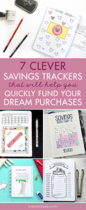 It was always so hard for me to stay motivated when saving up for a dream purchase, whether it was a kitchen reno, a new patio set, or a cruise vacation! But then I found bullet journaling and realized I could track my savings in a fun and easy way with a savings tracker printable! This changes everything! #bulletjournaling #savingstracker #savingstrackerprintable #bulletjournalprintable