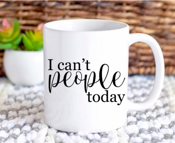 I can't people today mug