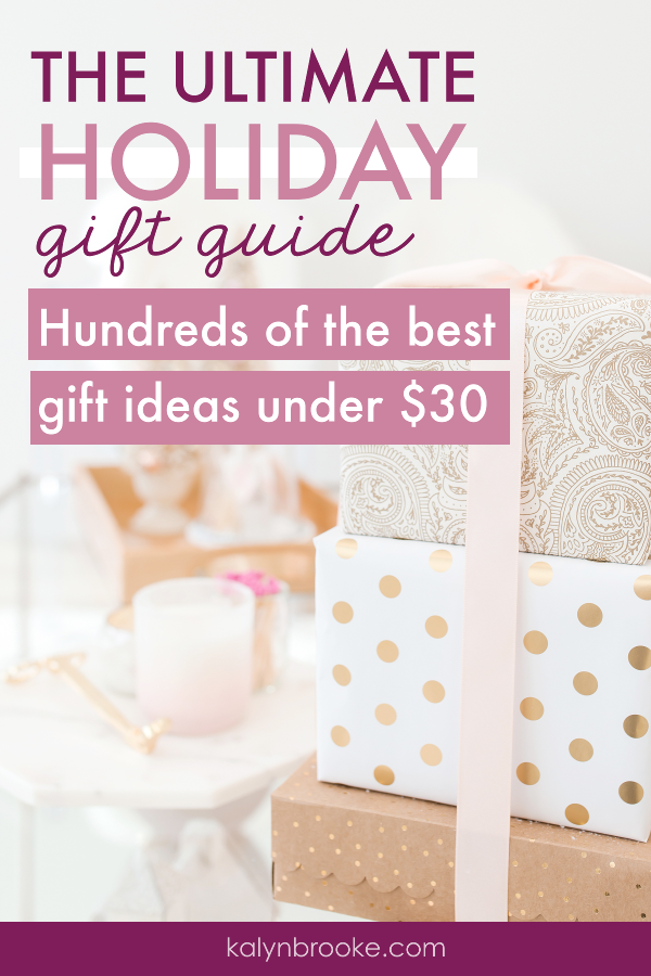 Who couldn't use some tips when it comes to gift-giving? I've bookmarked this treasure trove of practical gift ideas for different personality types, themes, and stages of life -- all organized by holiday! And every gift comes in under $30! #practicalgiftideas #giftguide #giftideas #holidaygiftguide #frugalgiftideas