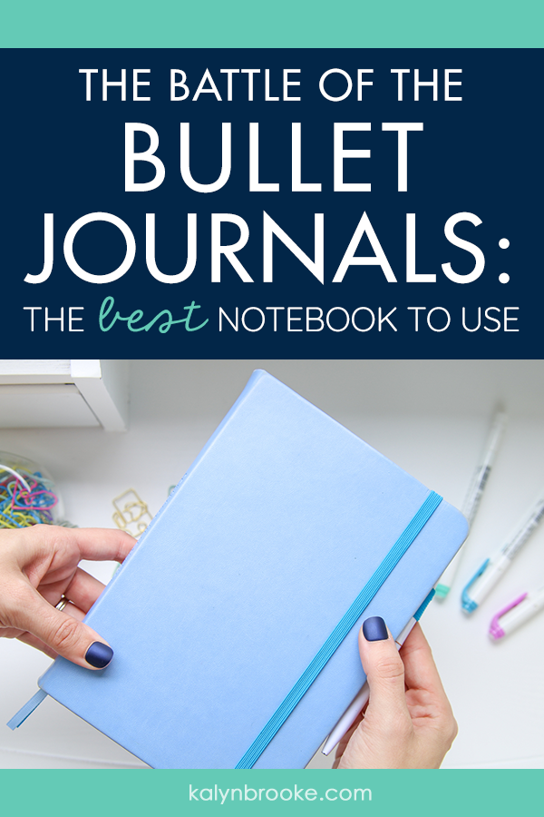 So I'm a firm believer in bullet journaling, and the only thing that trips me up is the overwhelm that comes with choosing the perfect notebook! I just haven't been impressed with any of the notebooks I've chosen! Hard-core bullet journalists consider Leuchtturm to be the darling of the community (it is the official BuJo!), but it just didn't work for me. So I'm so glad I found this review of the Scribbles that Matter notebook! Game-changer! #bestbulletjournalnotebook #bulletjournalnotebook