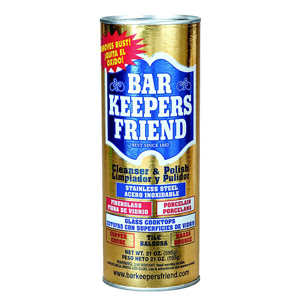 can of Bar Keeper's friend