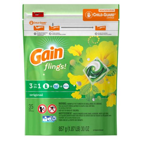 Gain laundry detergent flings