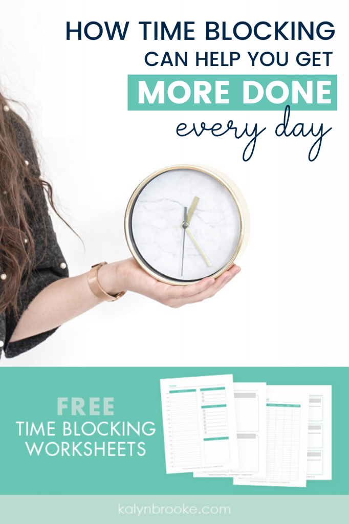 Time blocking revolutionized my life! I can't believe how much this simple productivity tool affected how much I could accomplish in a single day. These tips (including a time blocking printable set!) are exactly what your looking for if you want to crush your goals and be more productive with your time. #timeblocking #productivity #productivitytips #dailyproductivity