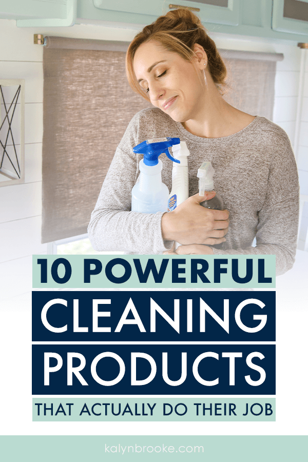 I was so tired of scrubbing until I broke a sweat, so I decided to take a long look at my cleaning product arsenal. I'm SO glad I found this list of the top ten best household cleaning products. Not only do they actually get the job done -- they save hours of effort and make cleaning day a breeze!