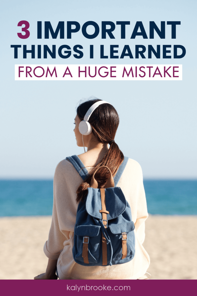 I've made a lot of mistakes in the past. Thankfully I've been able to use these helpful tips to let go of those mistakes, learn from them, and move forward instead of beating myself up!