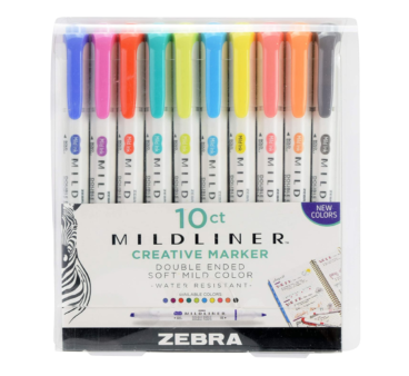 Mildliner Highlighters
